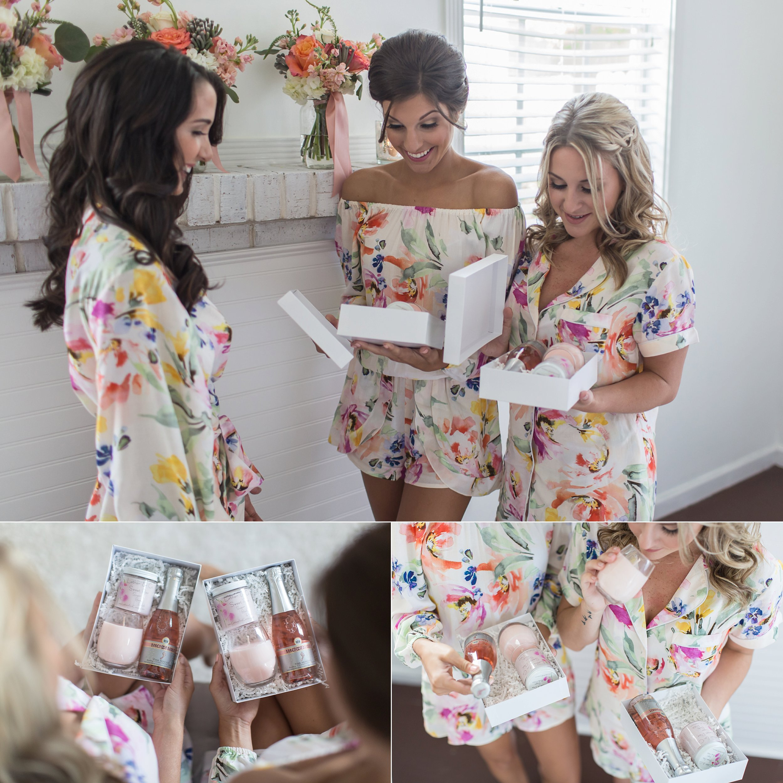 BRIDESMAIDS CHAMPAGNE AND CANDLE DIY GIFT SET