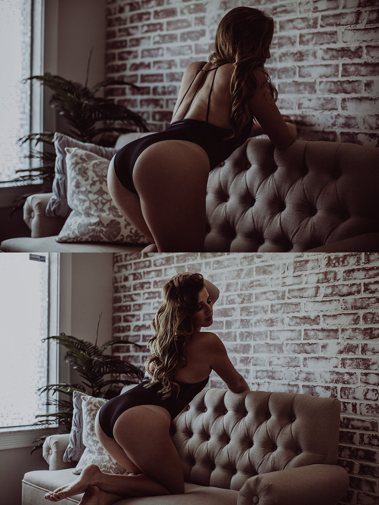 black body suit, couch posing ideas.