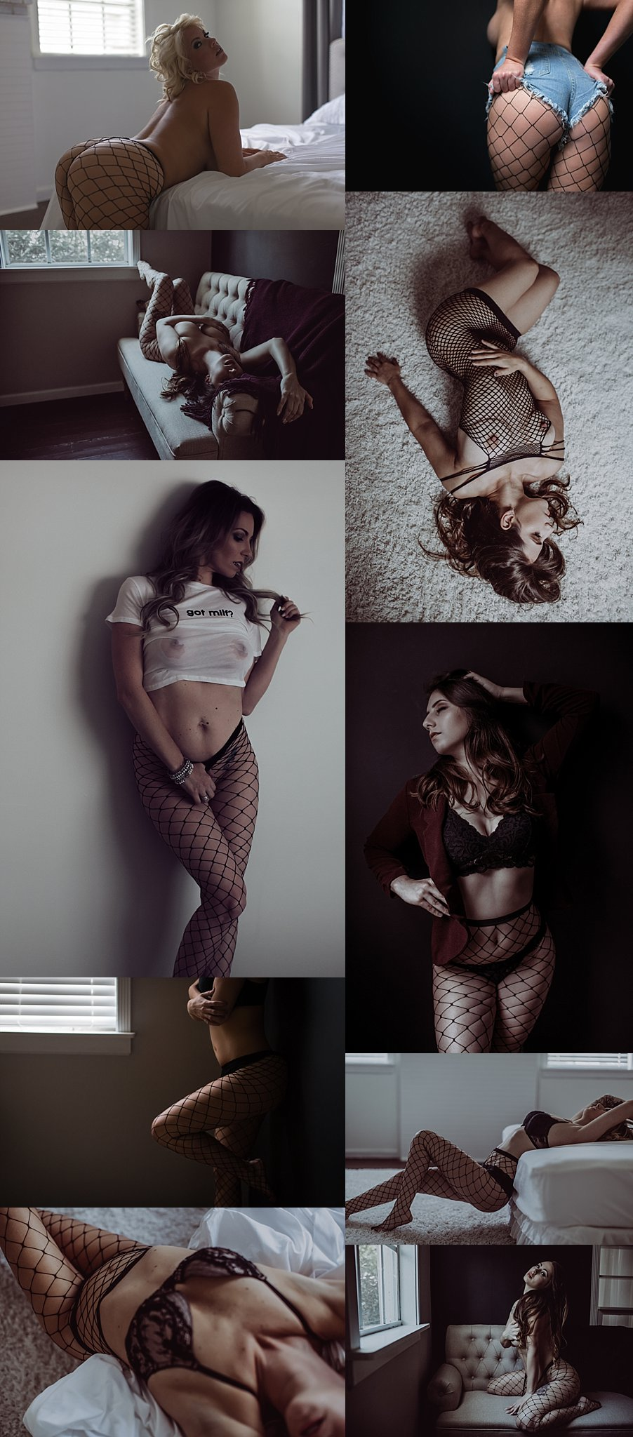 fishnets with posing