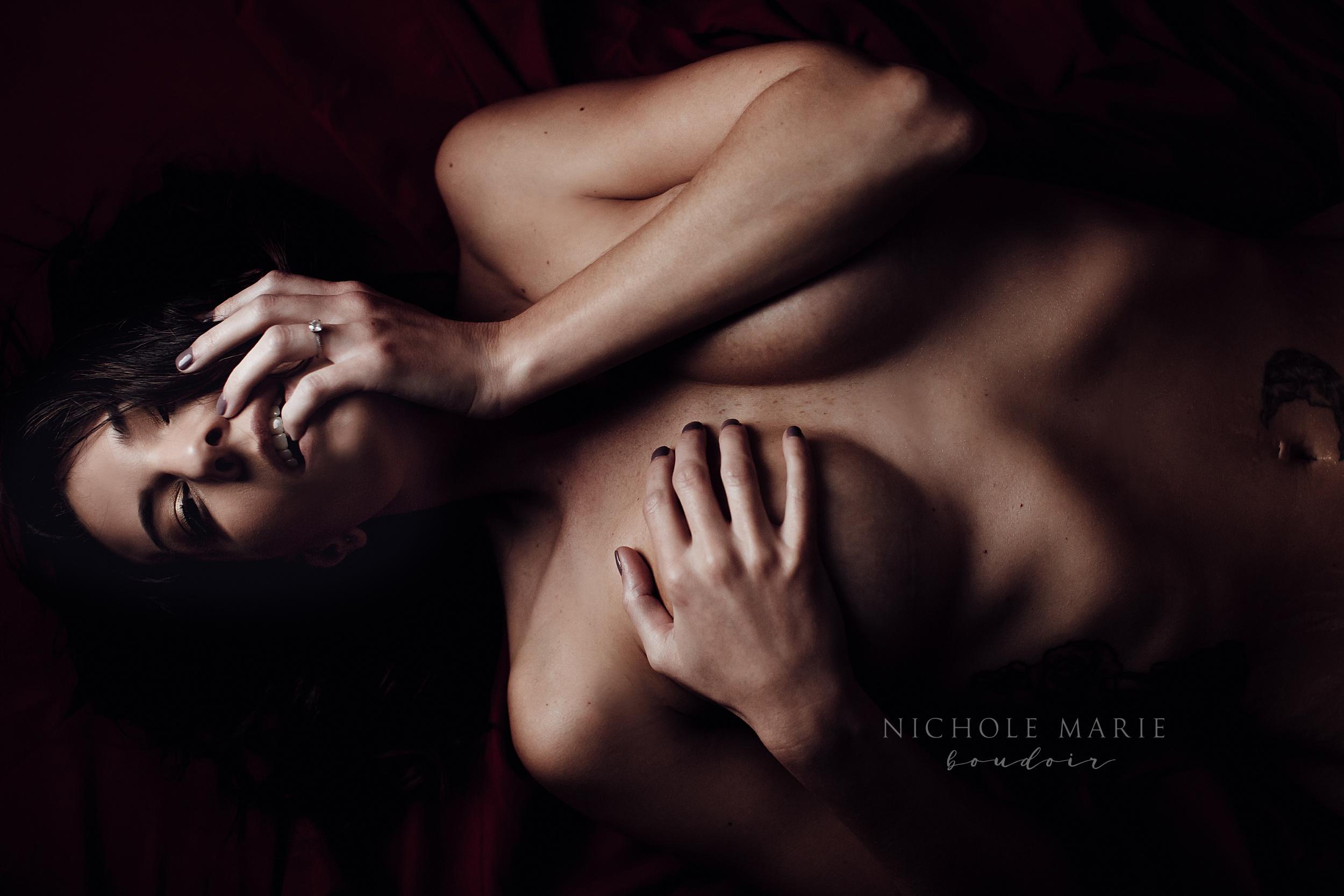 Finger bite boudoir shot | Sebastian, Florida Boudoir Photographer | Nichole Maire Boudoir.jpg