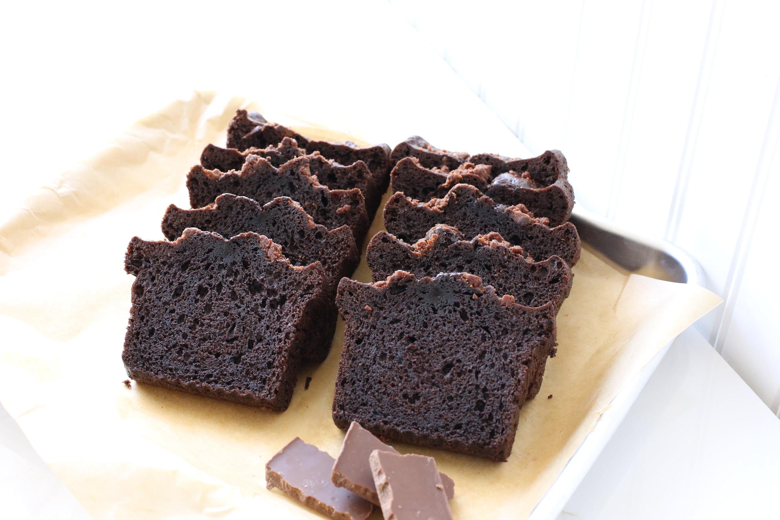 Mrs. Wonderful's Cakes™ - Chocolate Sliced Loaf Cake