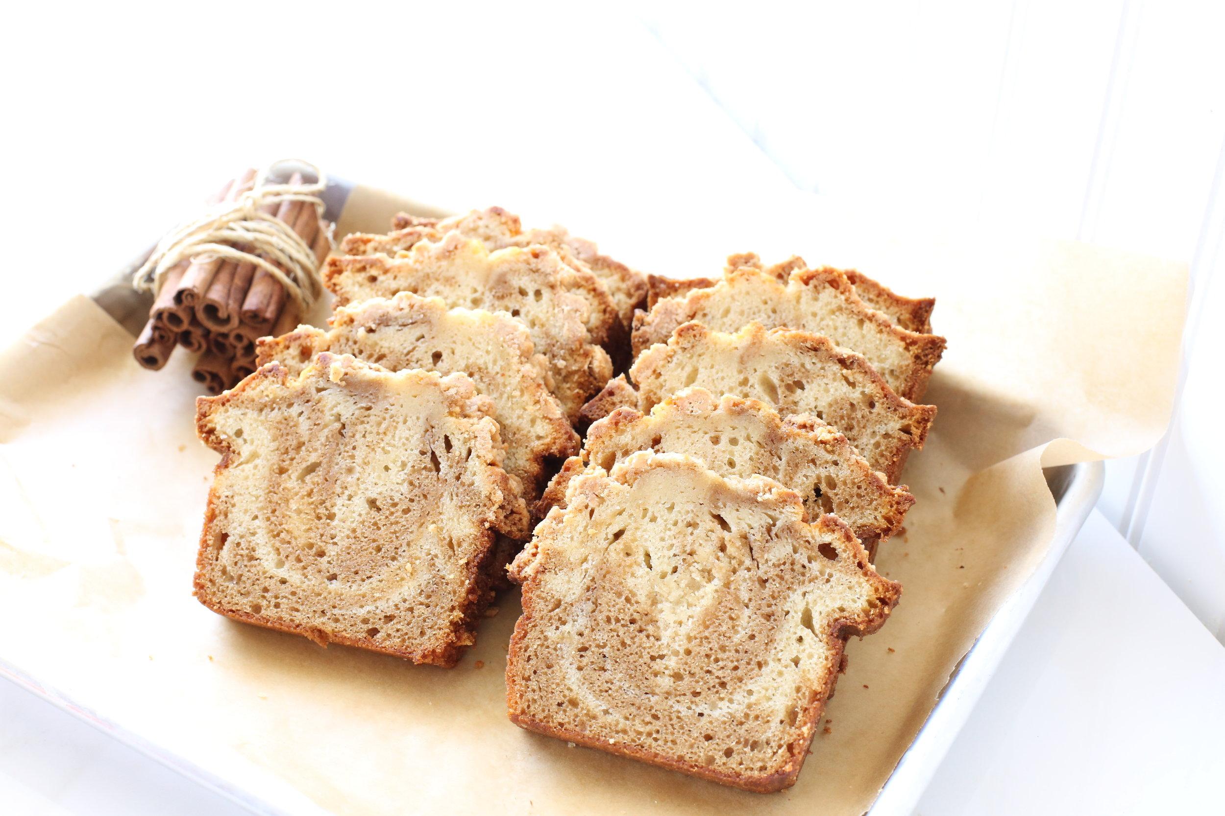 Mrs. Wonderful's Cakes™ - Cinnamon Swirl Sliced Loaf Cake