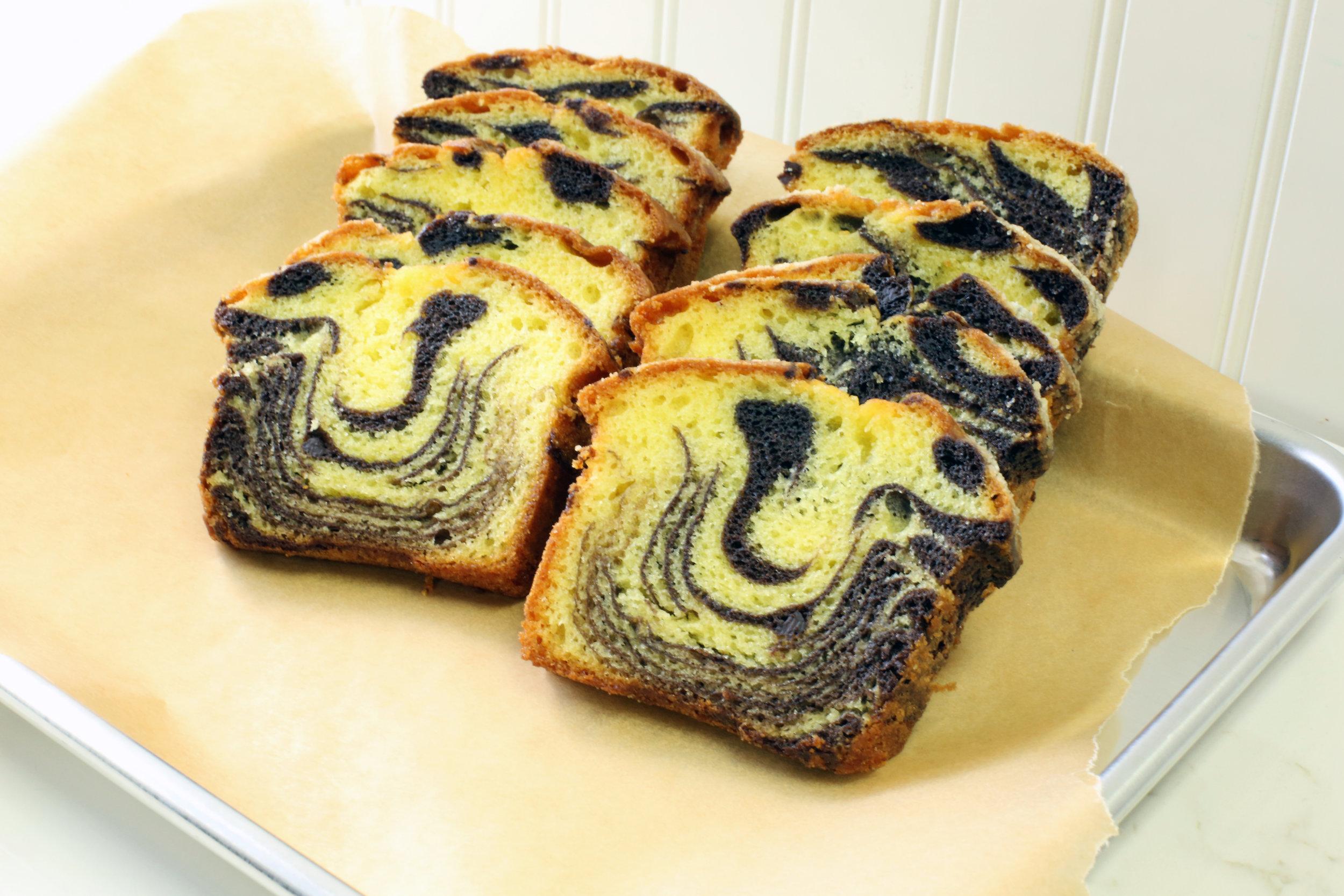 Mrs. Wonderful's Cakes™ - Marble Swirl Sliced Loaf Cake