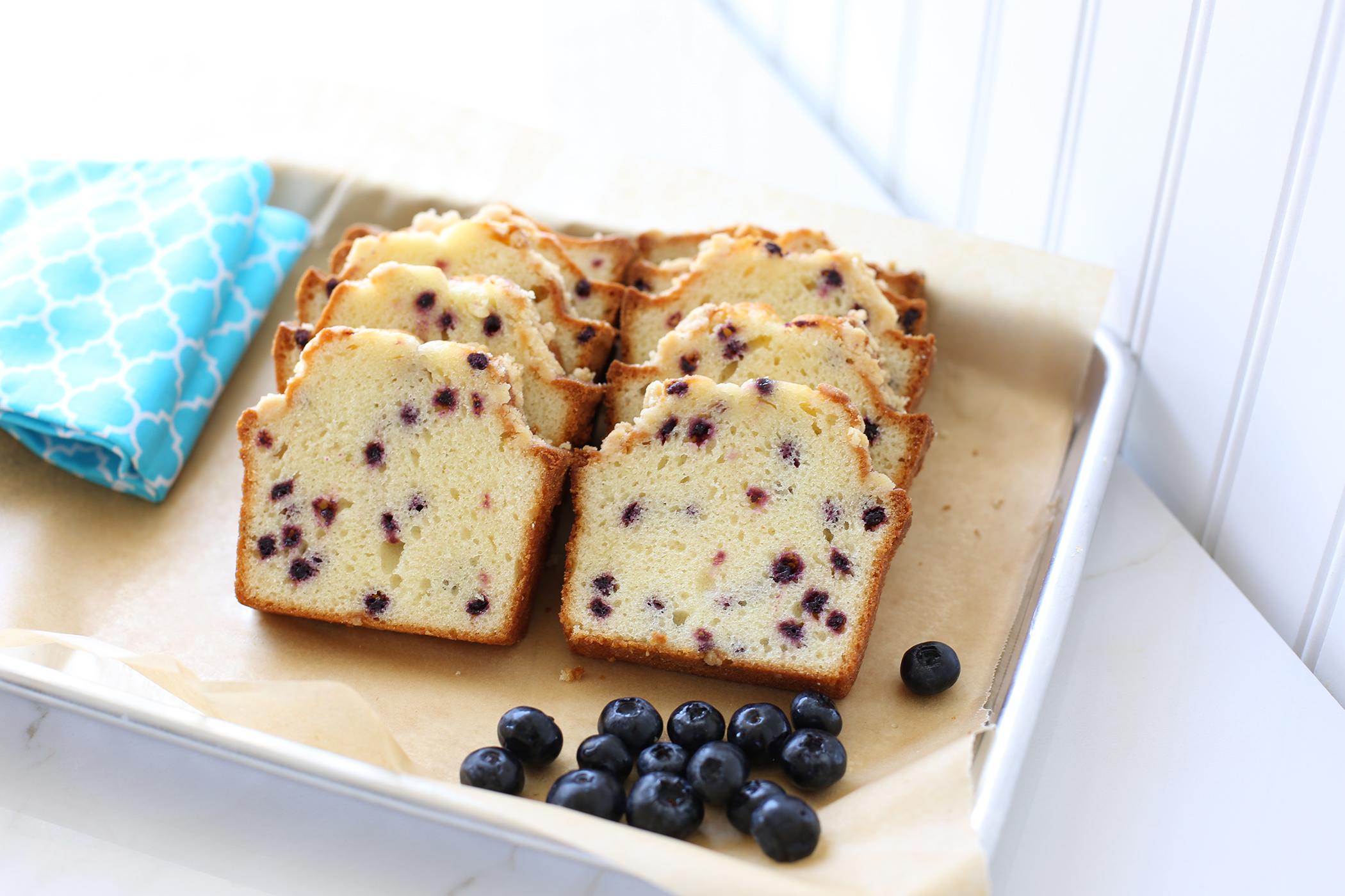 Mrs. Wonderful's Cakes™ - Blueberry Sliced Loaf Cake