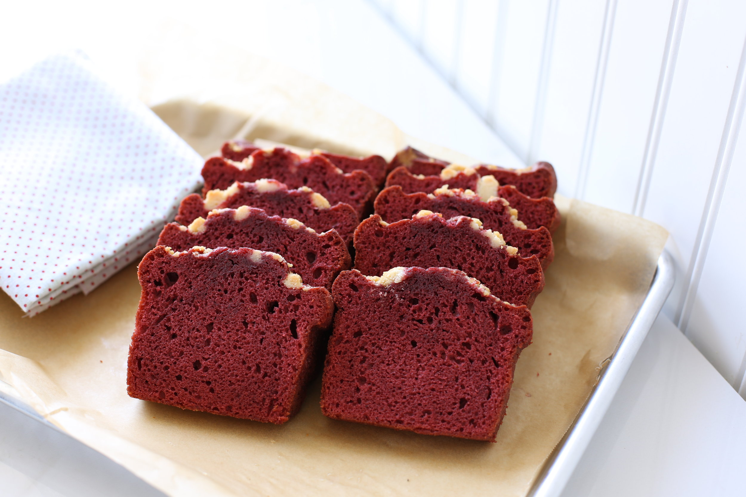 Mrs. Wonderful's Cakes™ - Red Velvet Sliced Loaf Cake