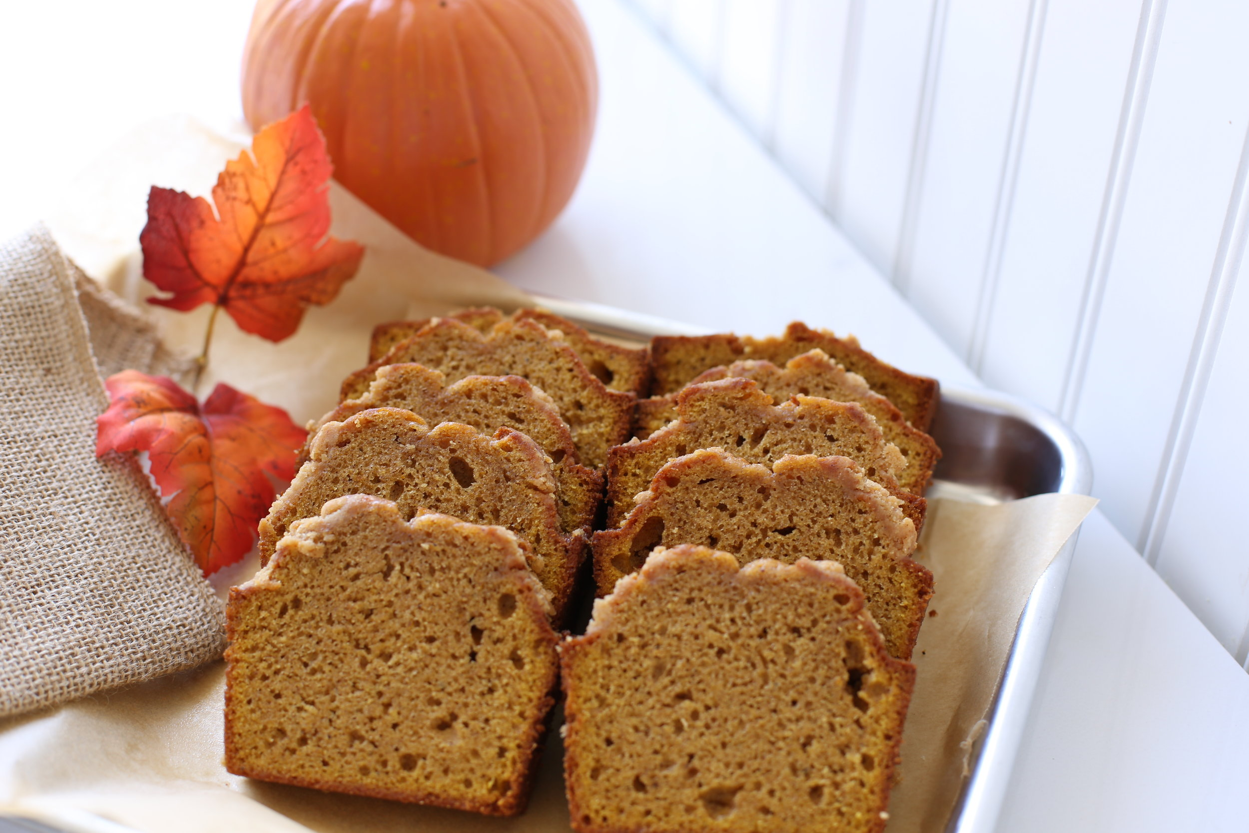 Mrs. Wonderful's Cakes™ - Pumpkin Sliced Loaf Cake