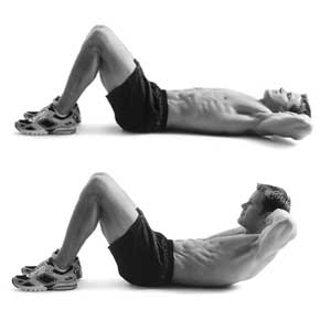 Stomach crunches