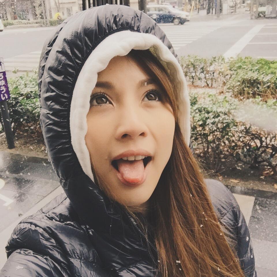 Snowfall licking