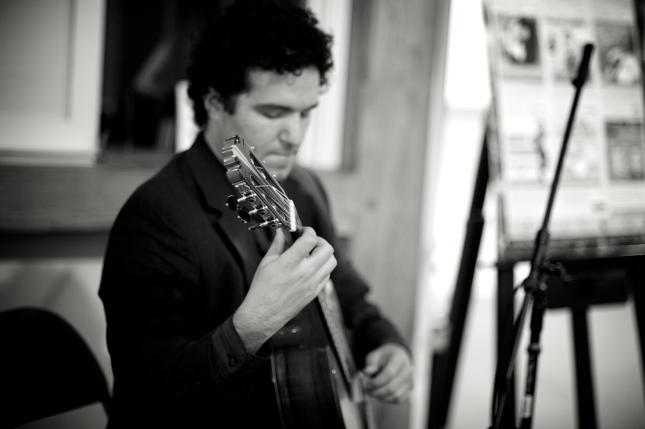 In concert in Peterborough, NH.   photo: Angela Ryan