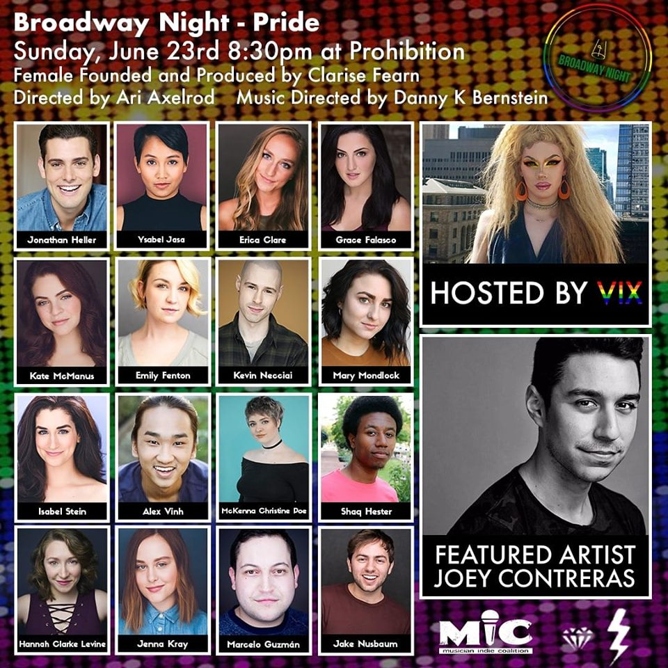 Kevin Necciai Broadway Night Pride