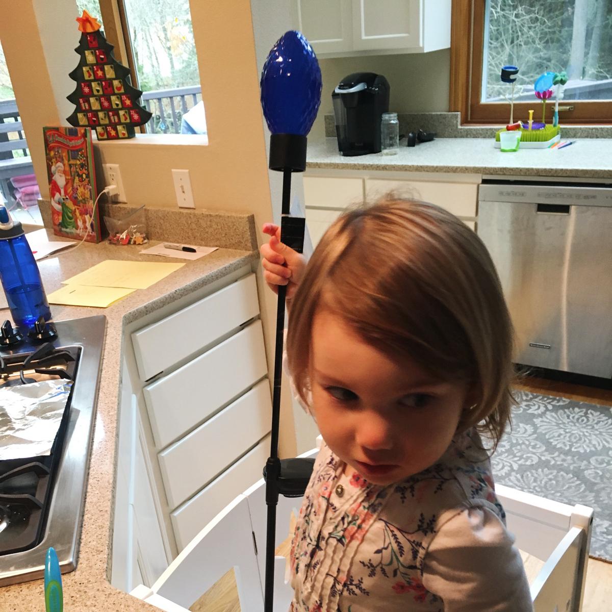 "Sweet tired Faye, and her ""beautiful wand."""