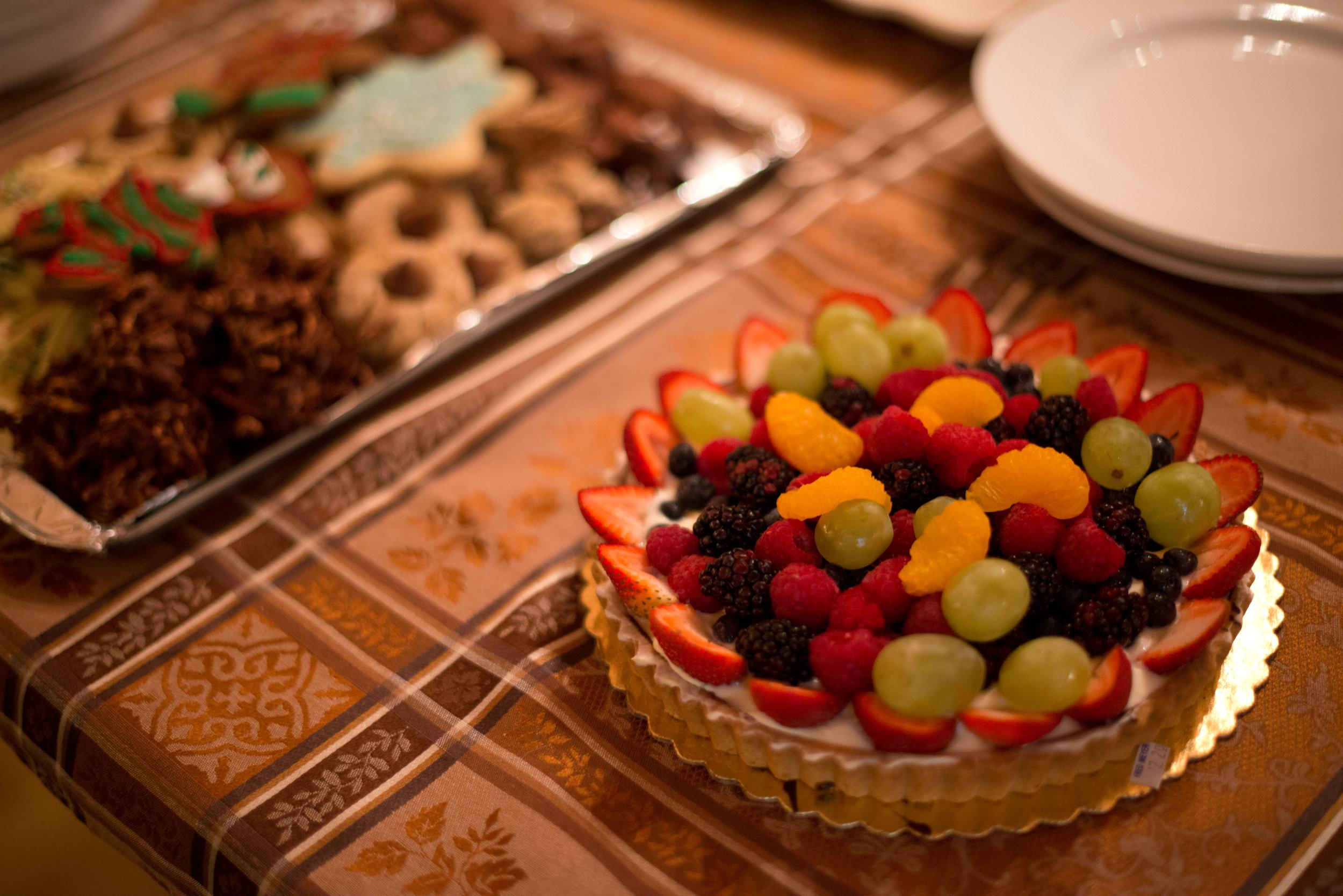 Beautiful desserts everyone brought