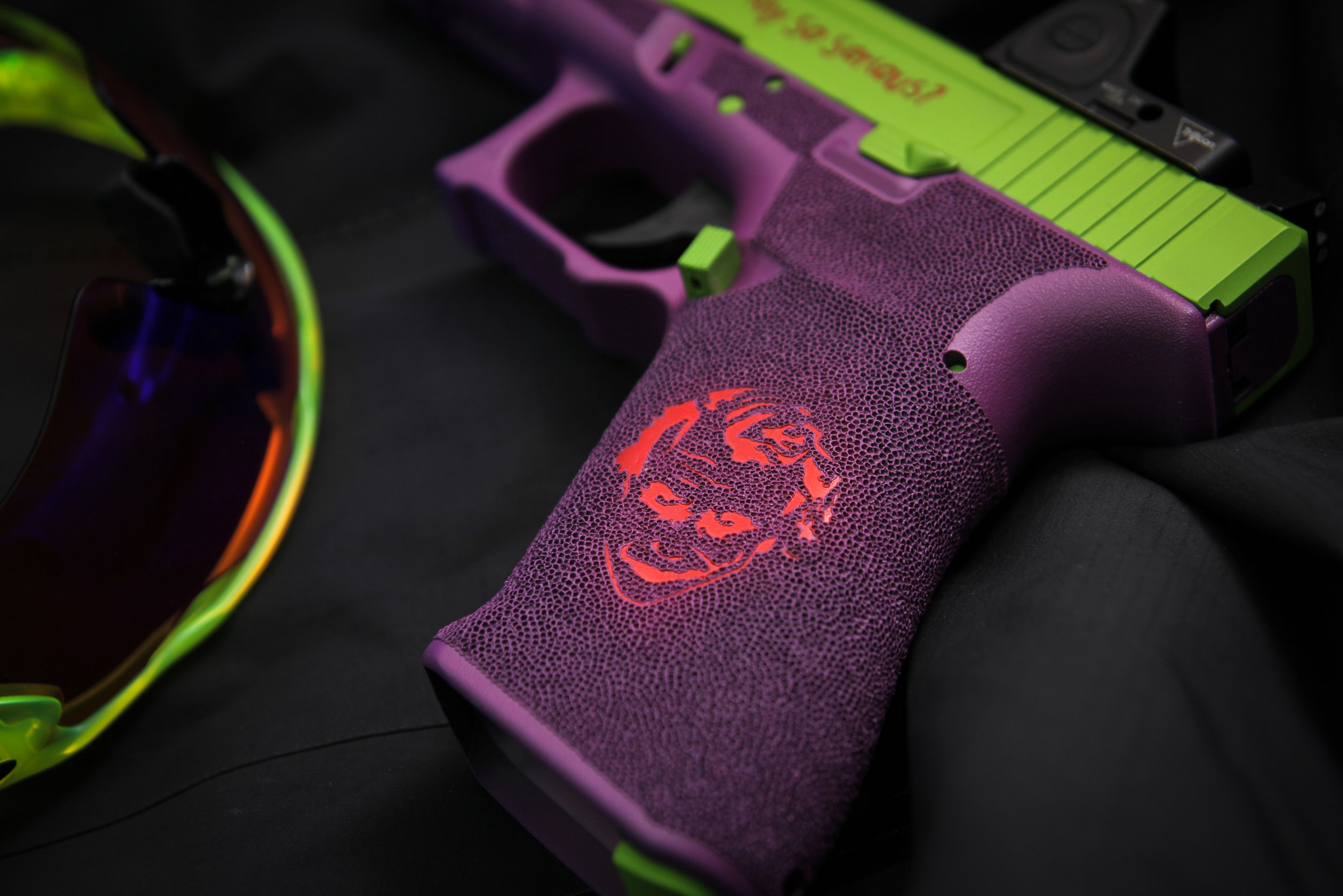cerakote colour fill stippling glock 17 black box customs