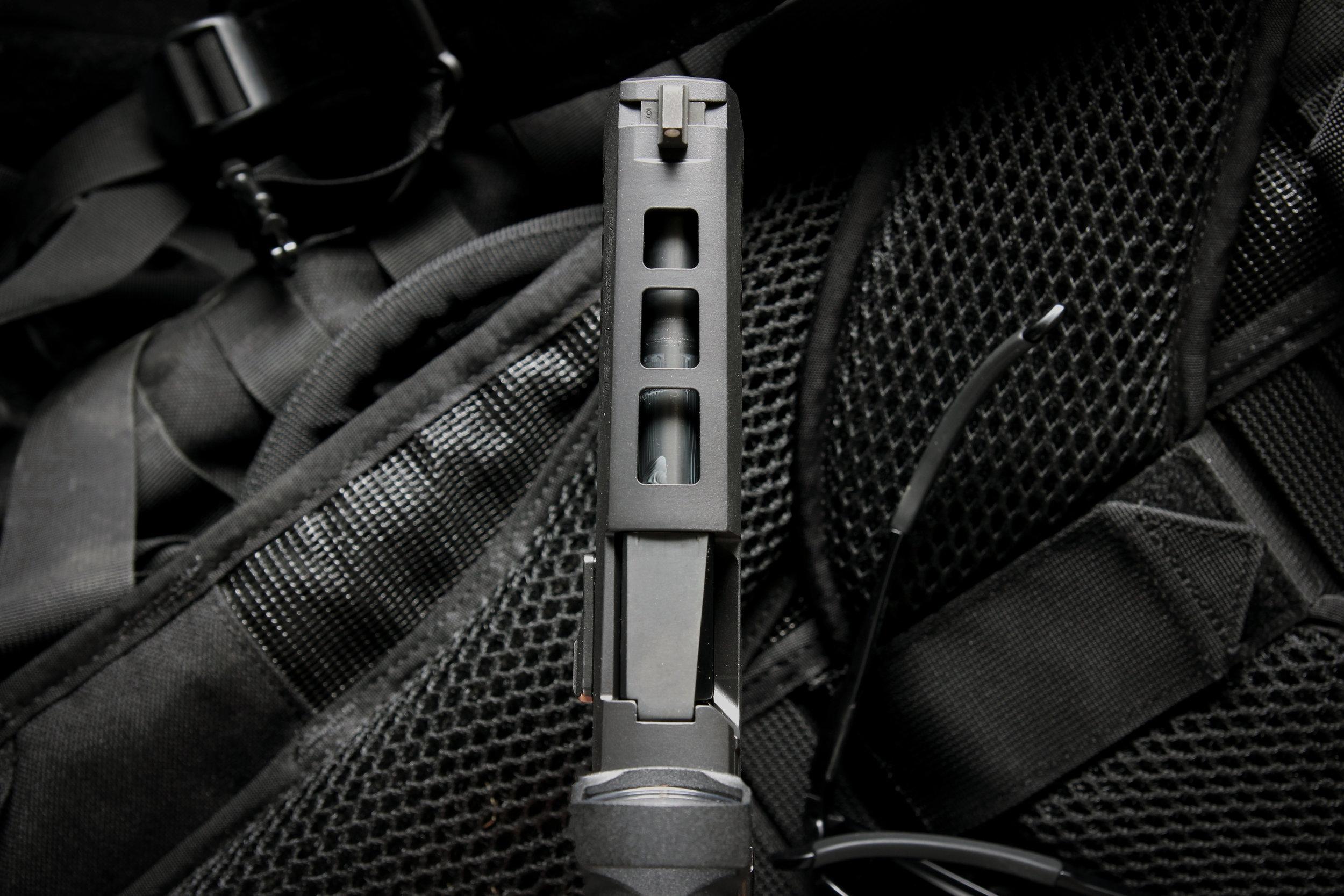tri port p320 top lightening cut black box customs
