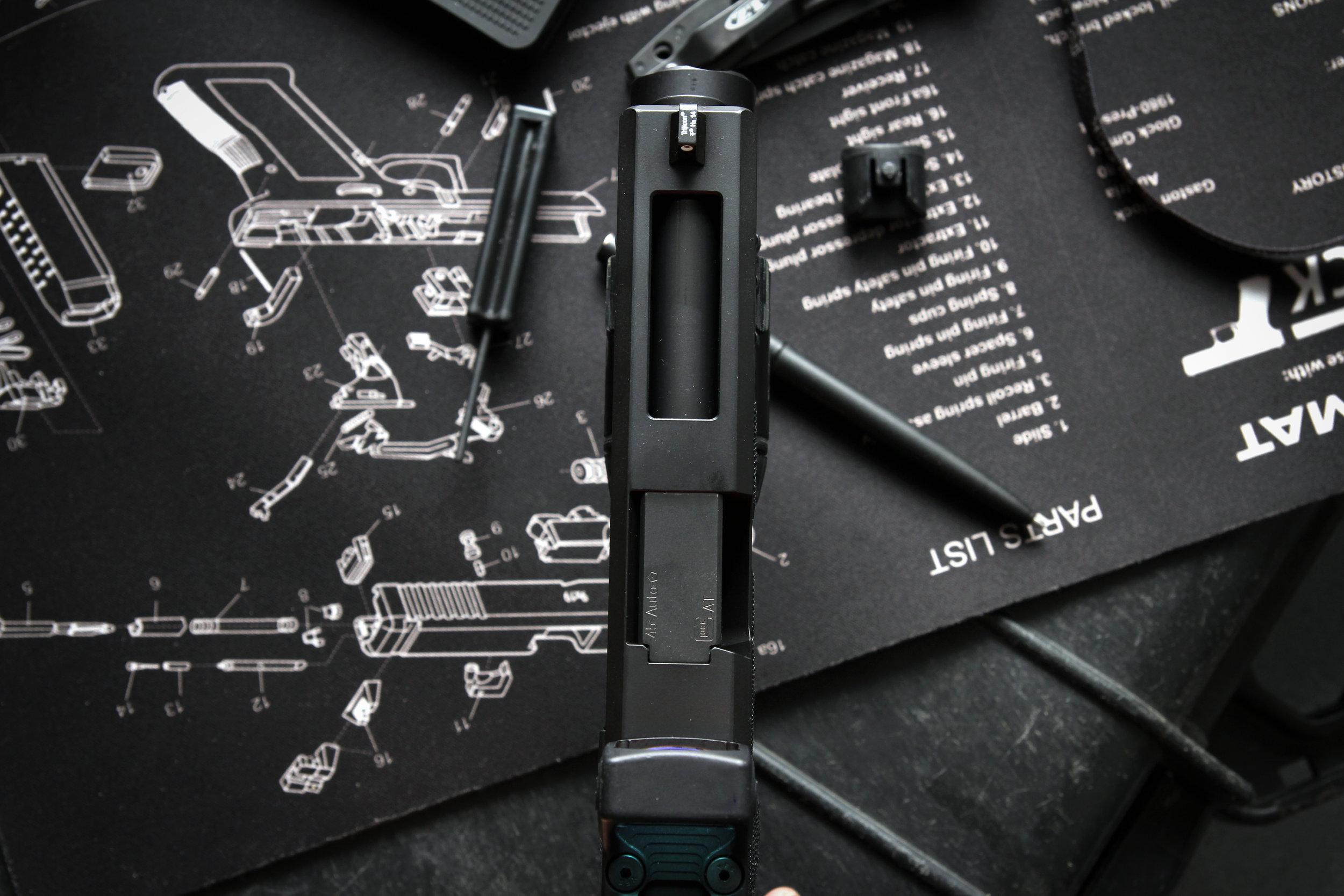 Glock 21 top lightening cut port black box customs