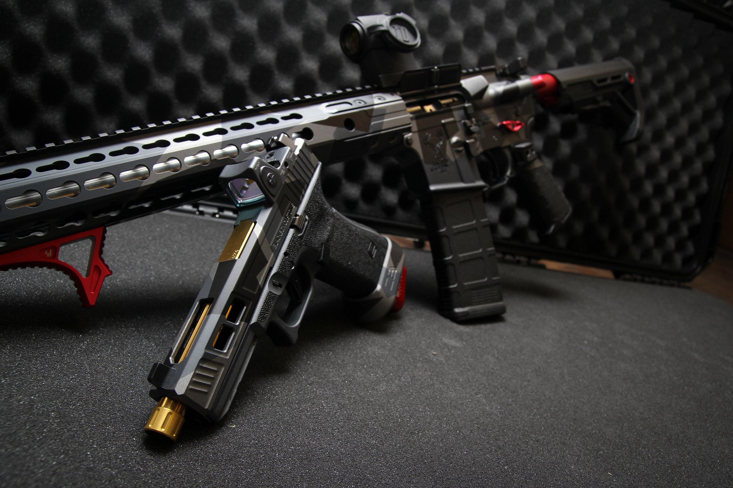 black box customs glock 17 Angular Camo