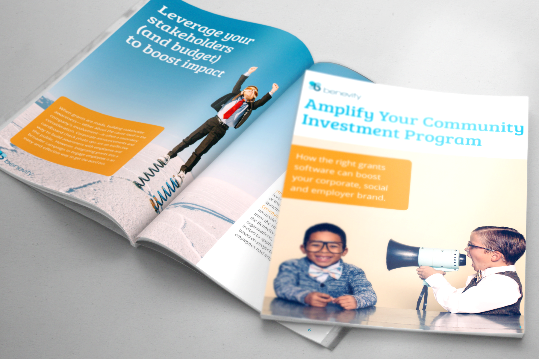 Benevity: Amplifying Your Corporate Community Investment 2017 - The ebook illustrates the power behind taking a holistic approach to strategy, de-siloing community and employee initiatives, combining budgets and bringing programs onto a single software platform.
