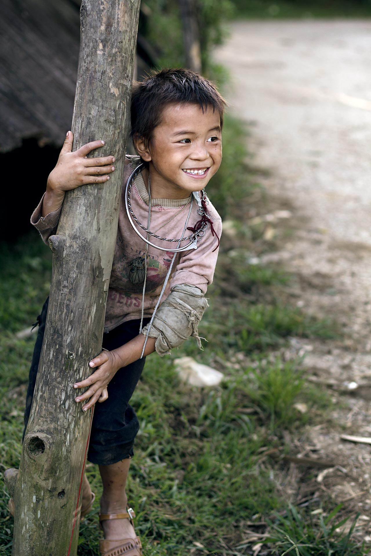 Hmong child in Sa Pa. Vietnam