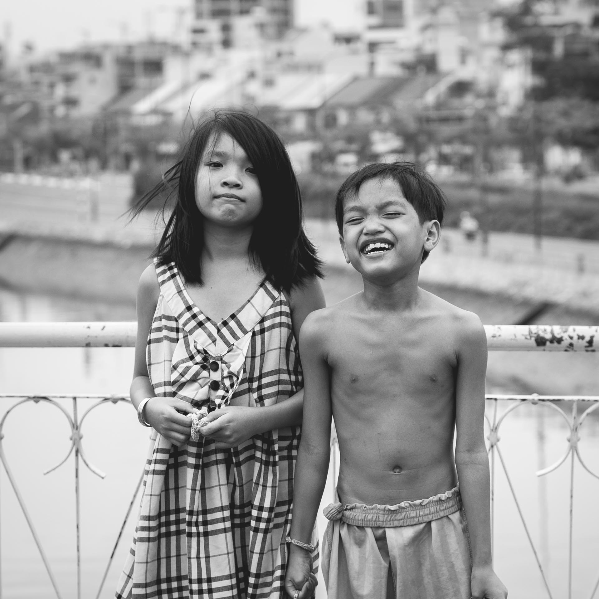 Children in the streets of Ho Chi Minh city. Vietnam