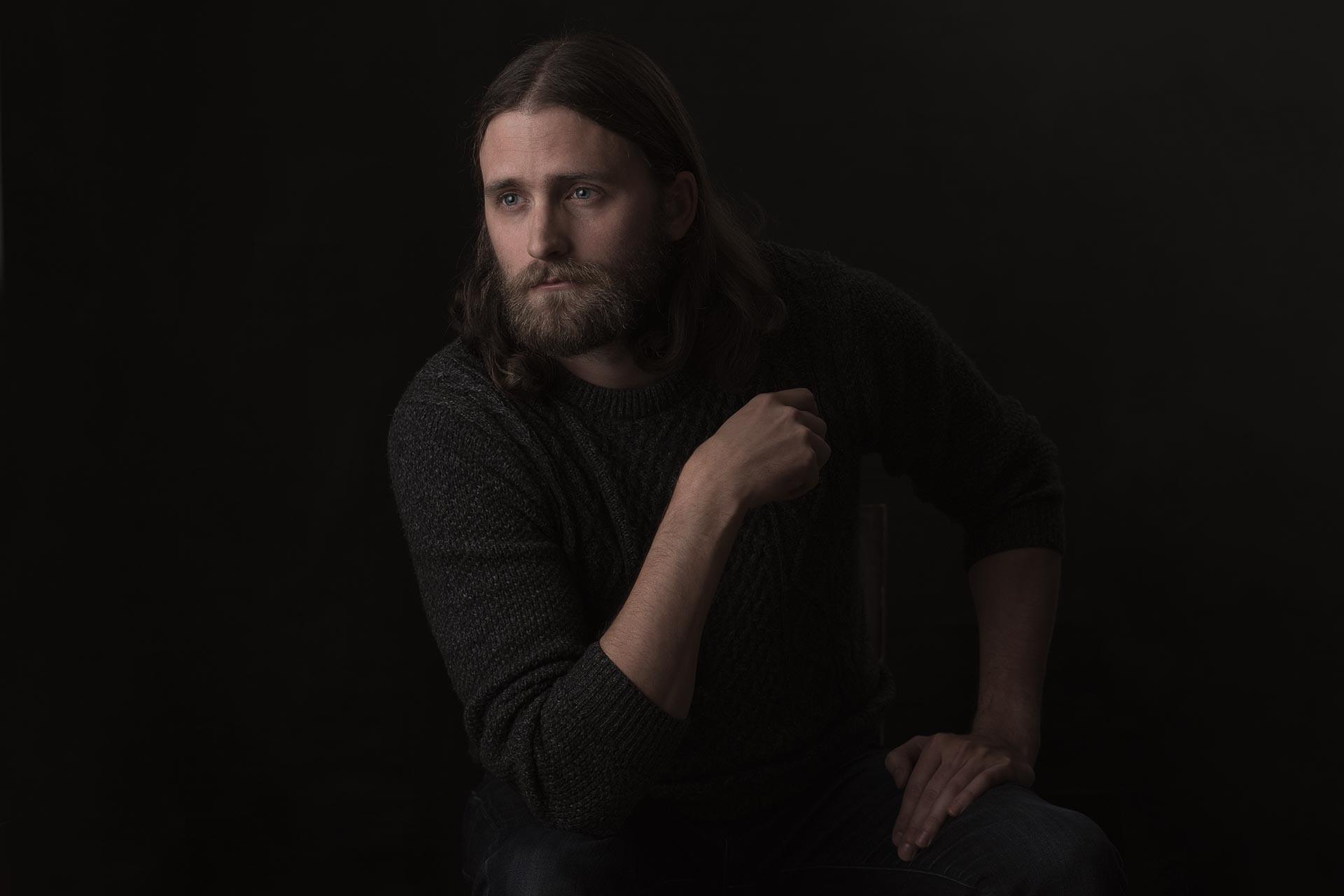 Studio photoshoot with Robert