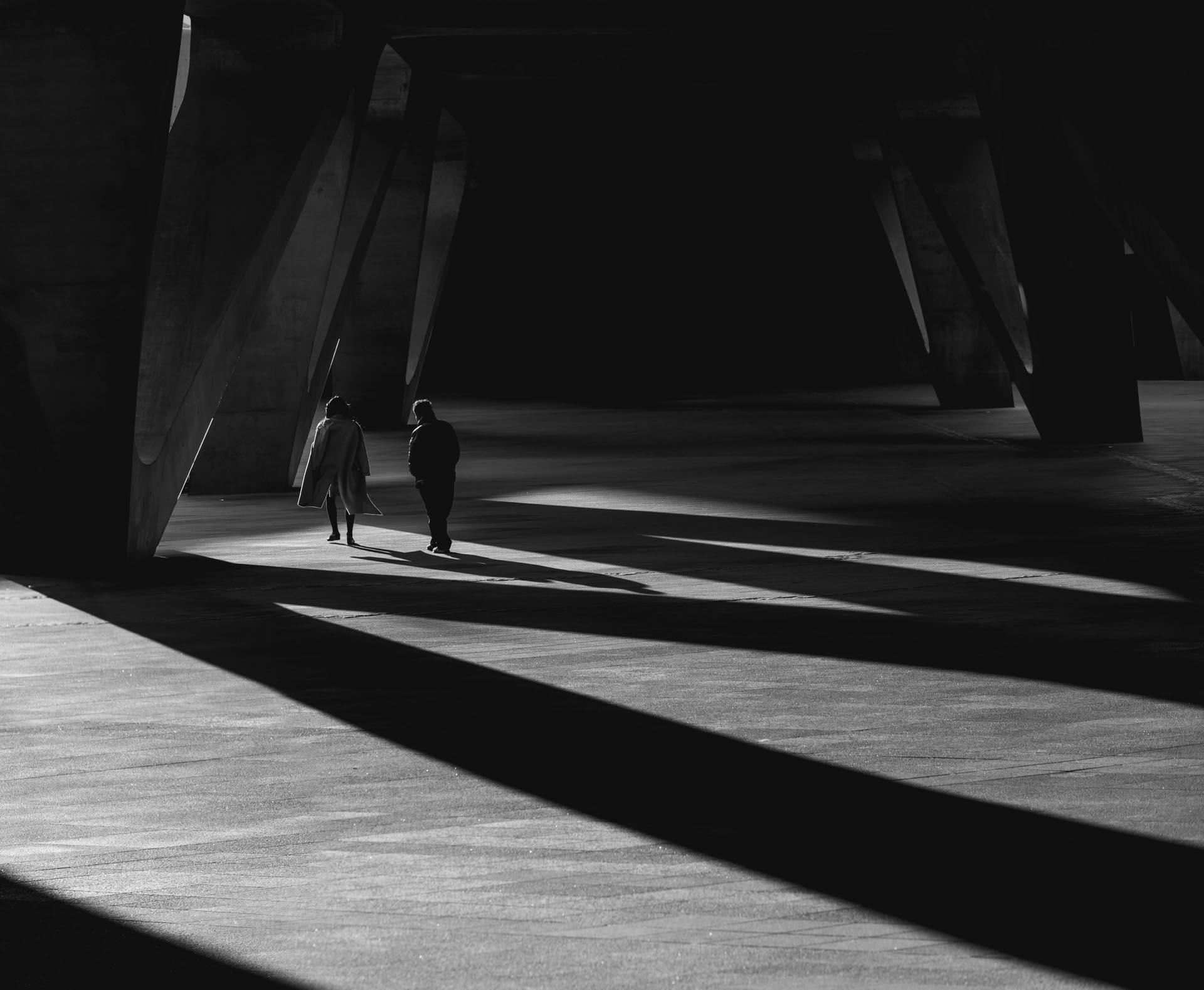 Shadows at the Dongdaemun Design Plaza