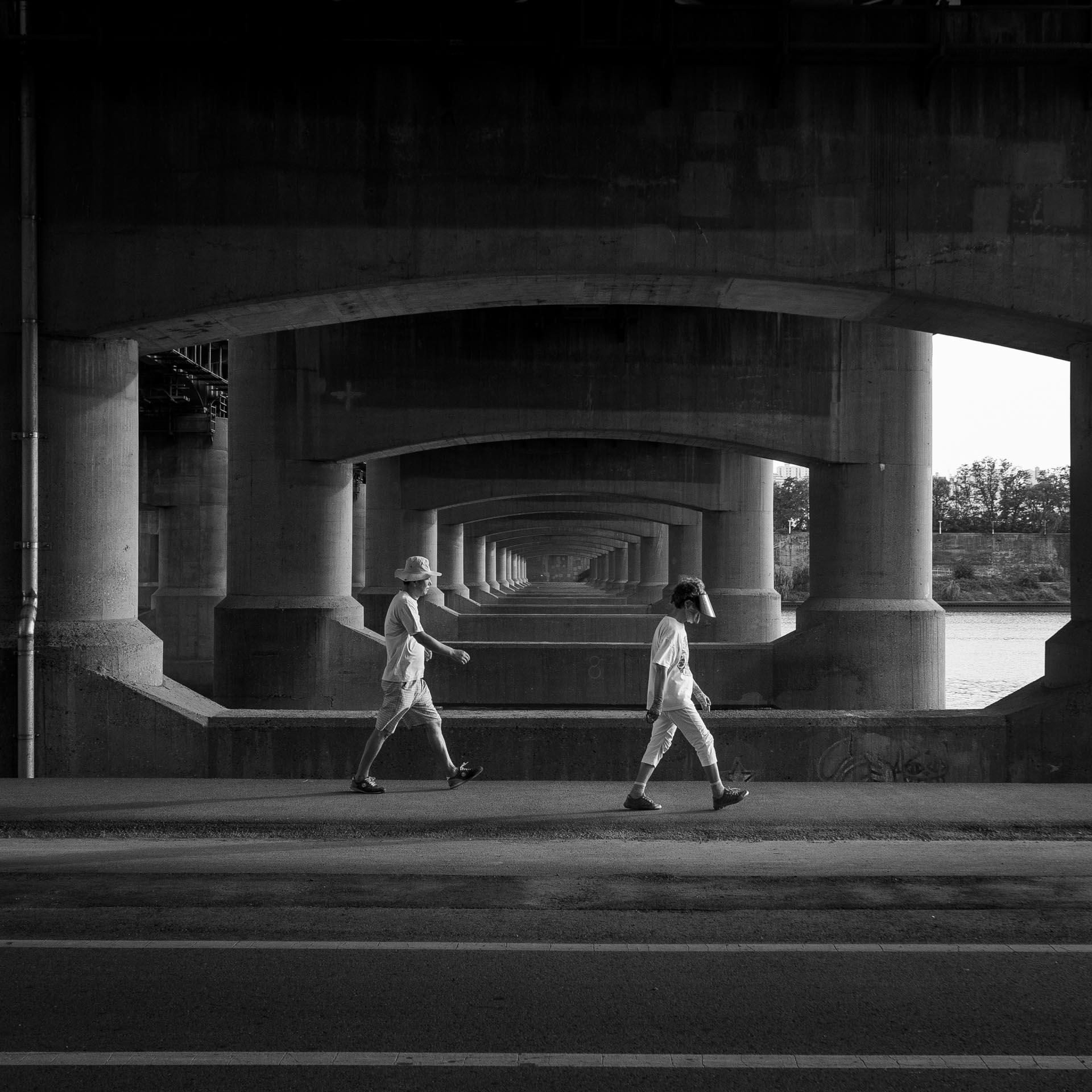 Under a Han River bridge