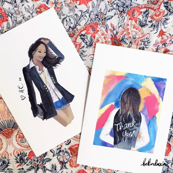 Custom cards designed for Helen Chik.