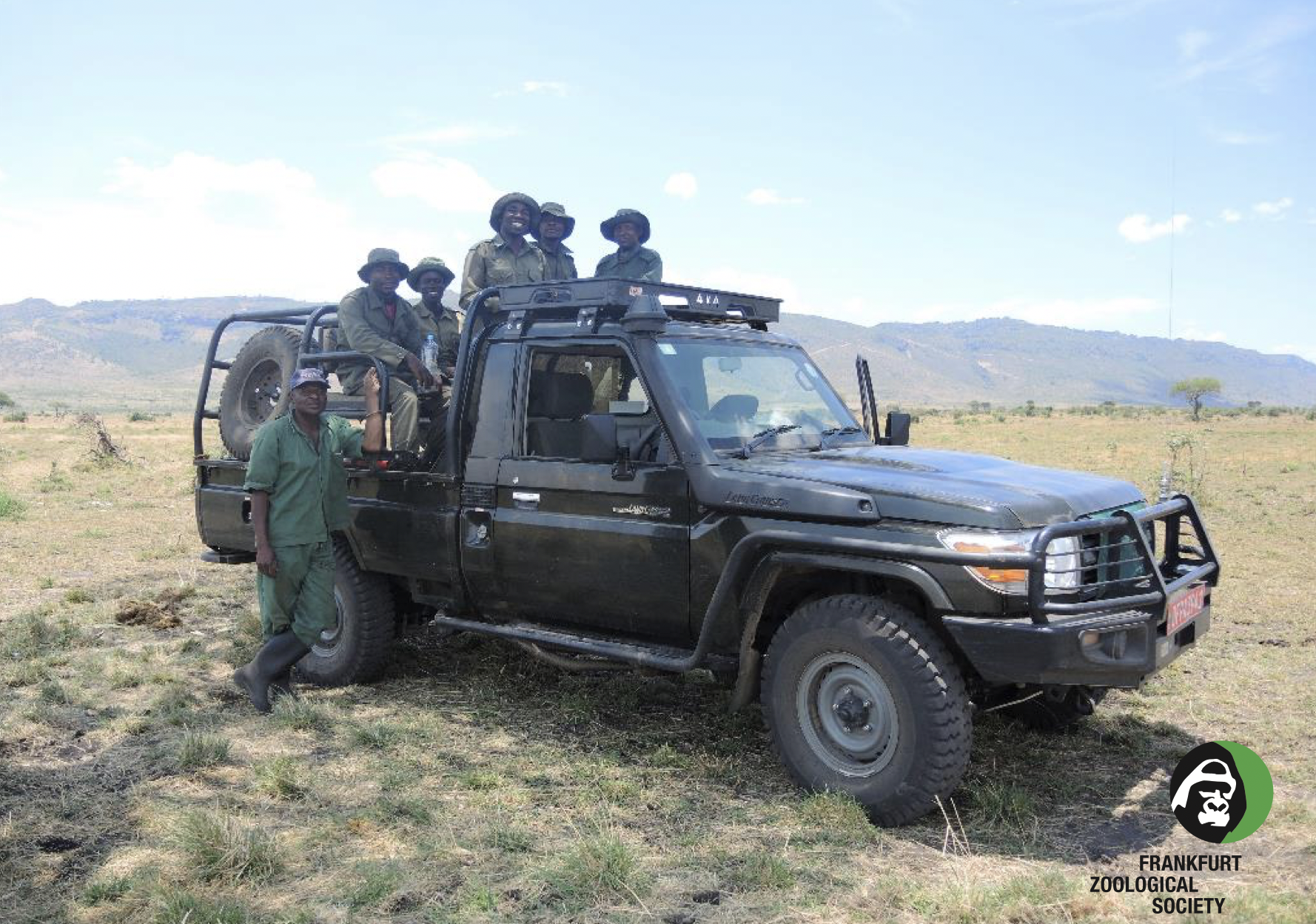 Teamwork identifying and destroying snares in the Serengeti ecosystem