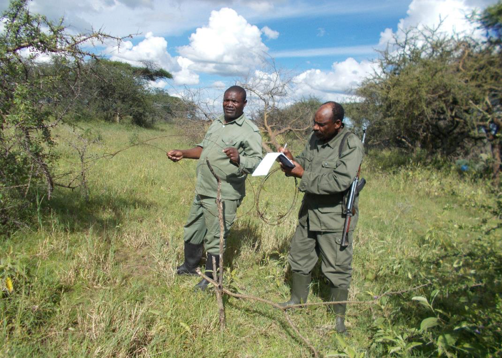 Collecting important data from the field about locations and types of snares