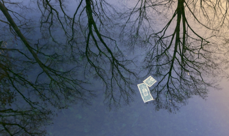 """""""Money on the water: New Year Day"""" (c)Rebecca LaChance, 2015, Emmitsburg, MD."""