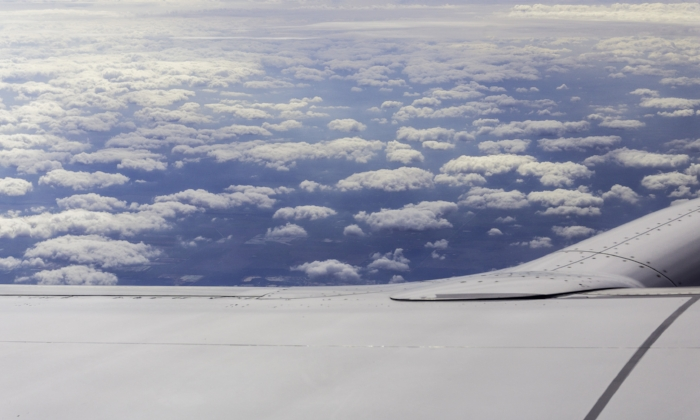 """""""Bec does Georgia O'Keeffe"""" (c) Rebecca LaChance, 2015. Somewhere over the continental U.S. I love to take pictures of the clouds whenever I fly. It reminds me of Georgia O'Keefe's painting """"Above the Clouds"""". I read, a very long time ago, that a sight such as this was the creative spark for her cloud series."""