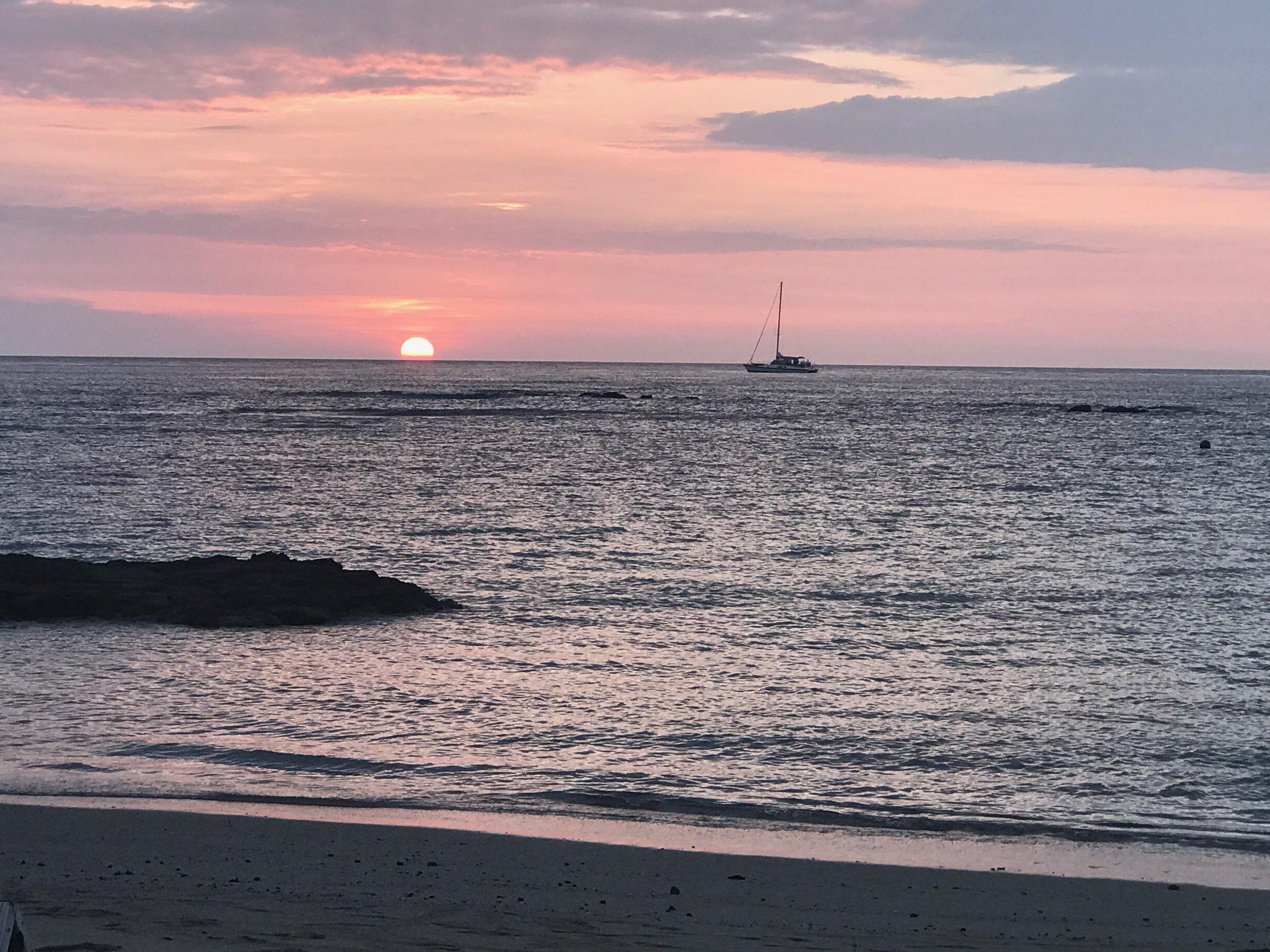 My last Hawai'ian sunset - until the next time.