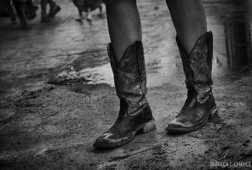 """Grace and Grit: Boots in the stable."" (c) 2017 Rebecca LaChance, Thurmont, MD"