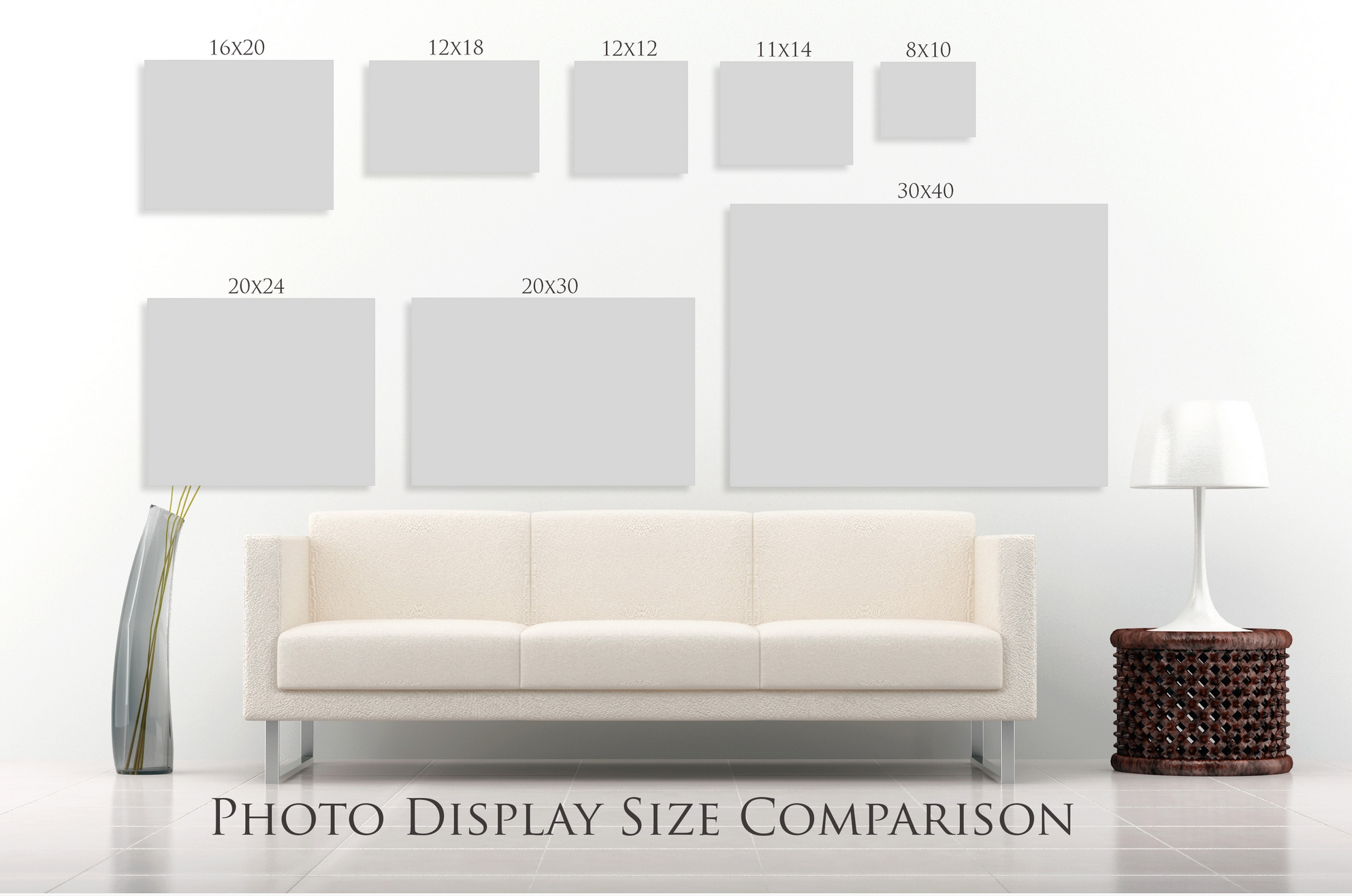 8x10? Everyone is familiar with the 8x10 photograph. And because everyone is familiar with the 8x10, they want that size, even if it's not the best choice for their home/decor.  Did you know we help you choose the best size portrait for your home and your decor? Helping you choose the best size wall art is part of our Design Consultation Service at  Rebecca LaChance Artistic Portraits.