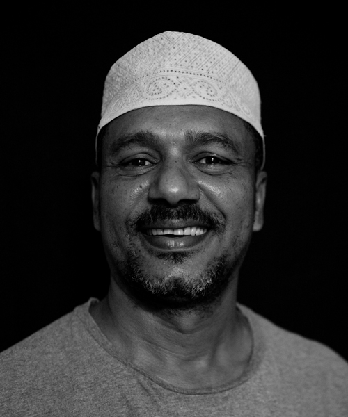 Mbarak Omar Slim, Jewelry Maker using silver and pieces of ceramic recovered from archaelogical sites along the Kenyan coast