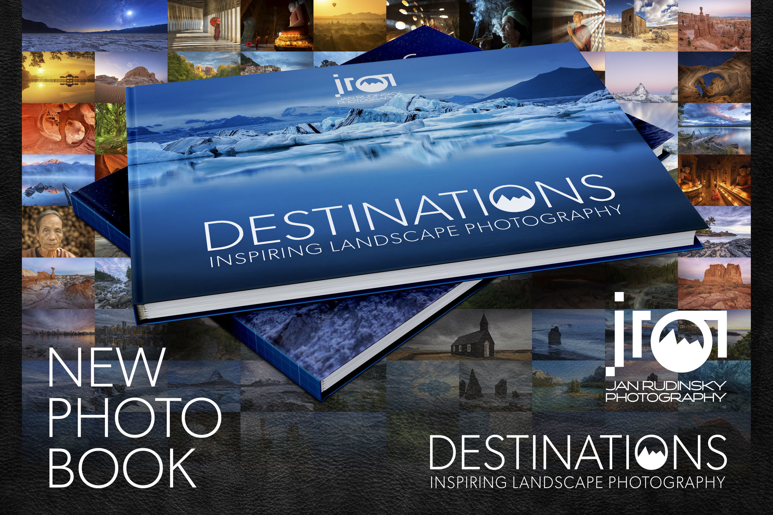 "Photobook ""Destinations"" with Iceland Icebergs Cover"
