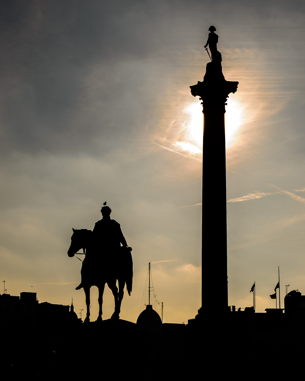 Trafalgar Square in Silhouette