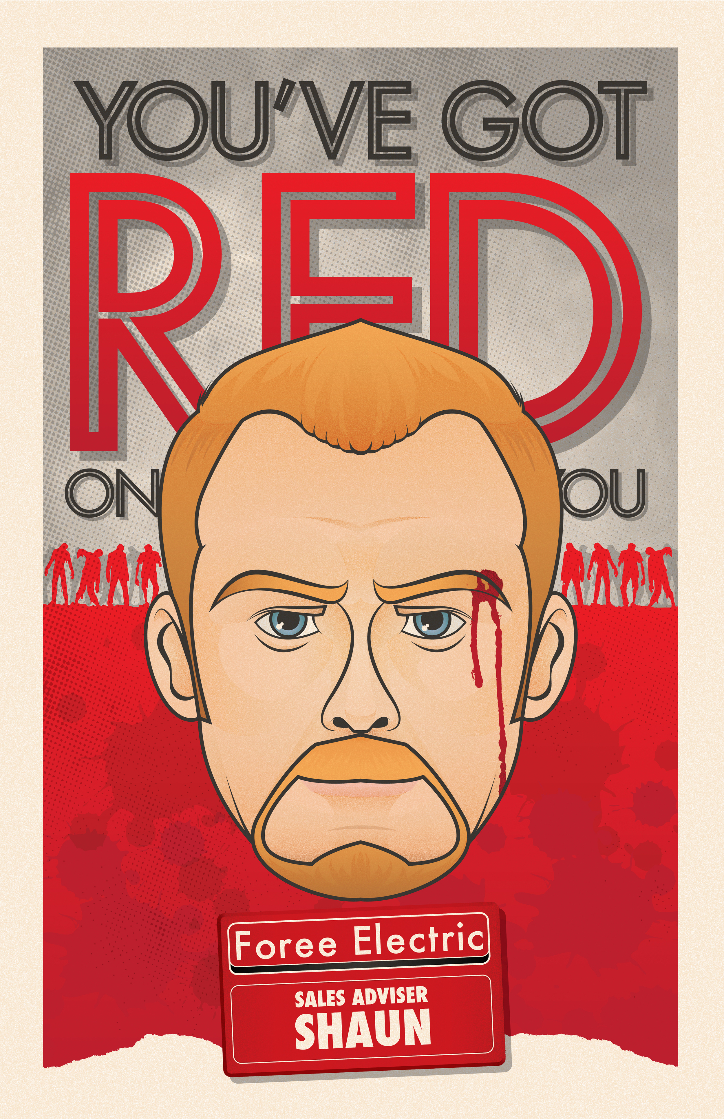 YOU'VE GOT RED ON YOU (11x17)