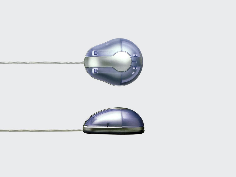 Handy Mouse. Mini mouse with USB plug. Designed for Lexon in 2001. DESIGN PLUS+