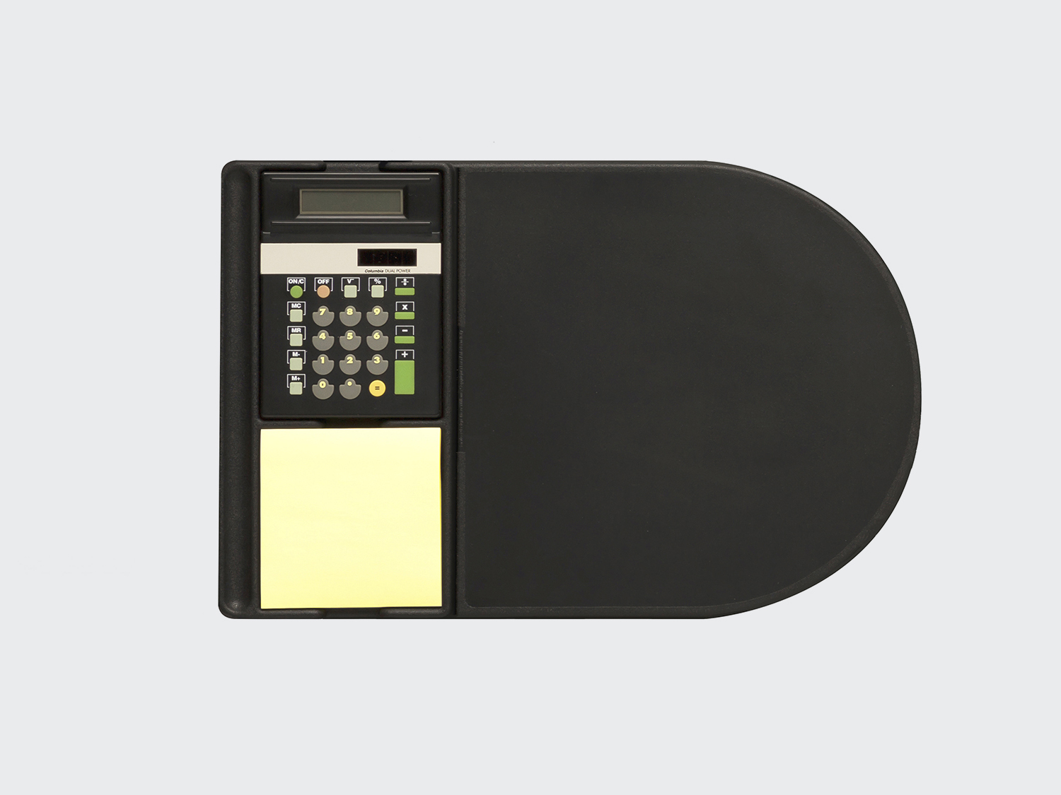 Service Mouse Pad. Soft-touch rubber mouse pad with removable notes and Ettore Sottsass designed calculator. For Nava, 1994. DESIGN PLUS+ 1995
