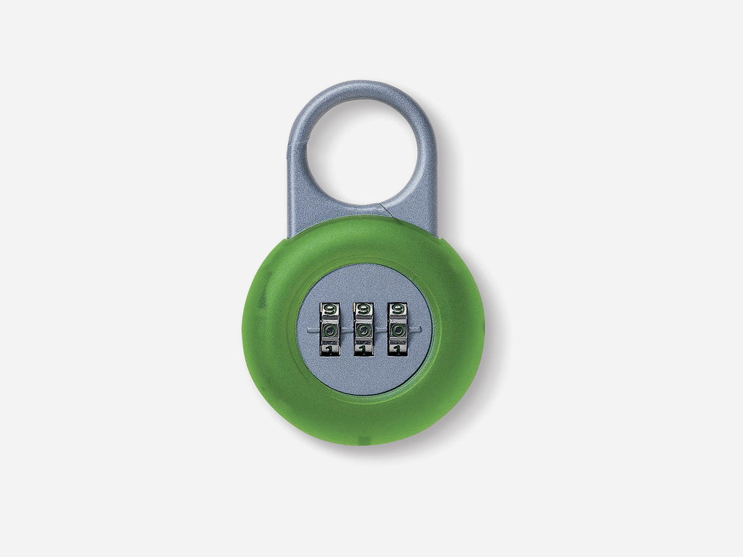 Handy Lock. Lock with metal case and silicon rubber surround. Designed for Lexon Paris in 2001.