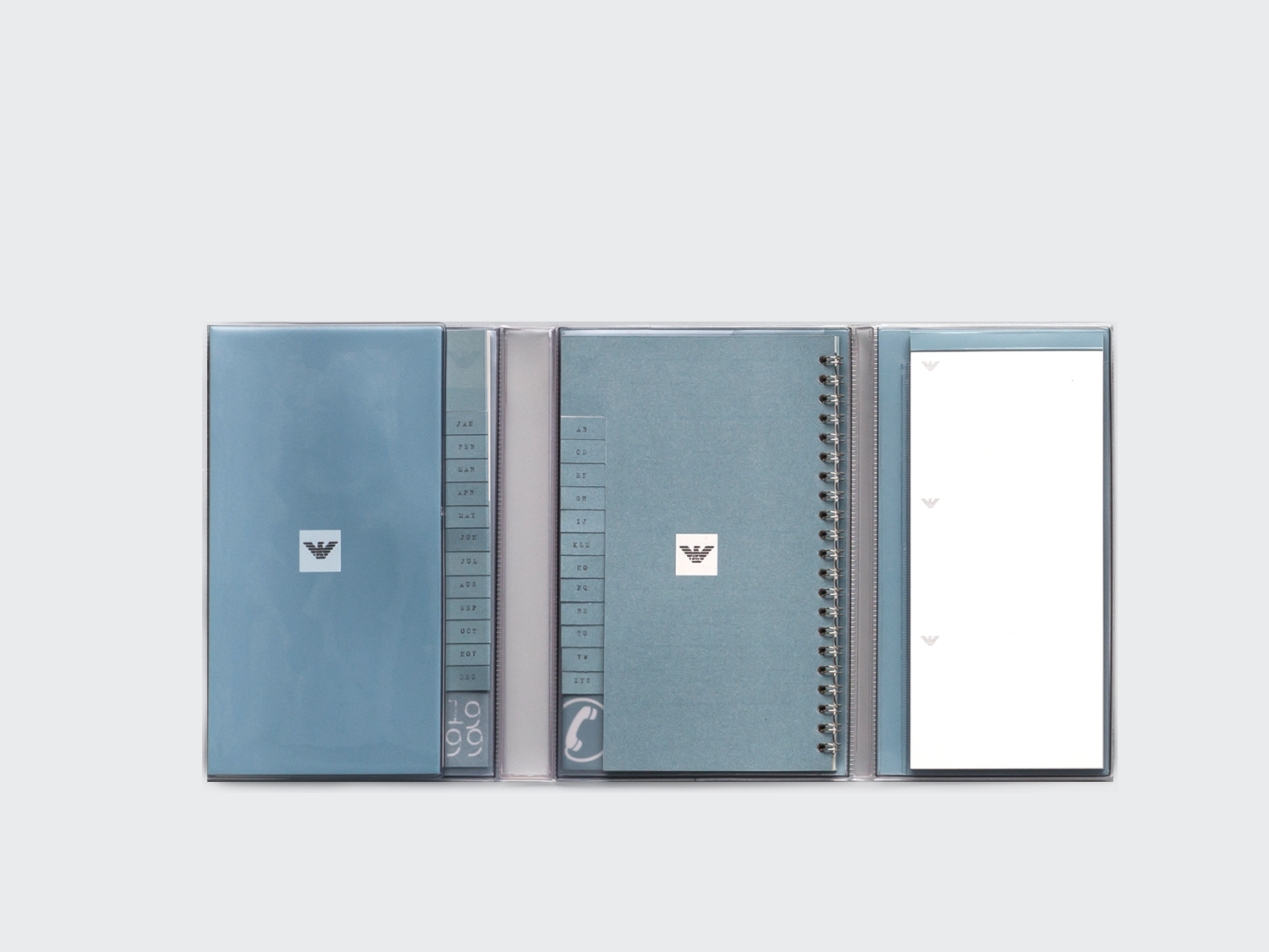 Armani Diary. Notepad, diary and address book. Designed for Emporio Armani 1999.