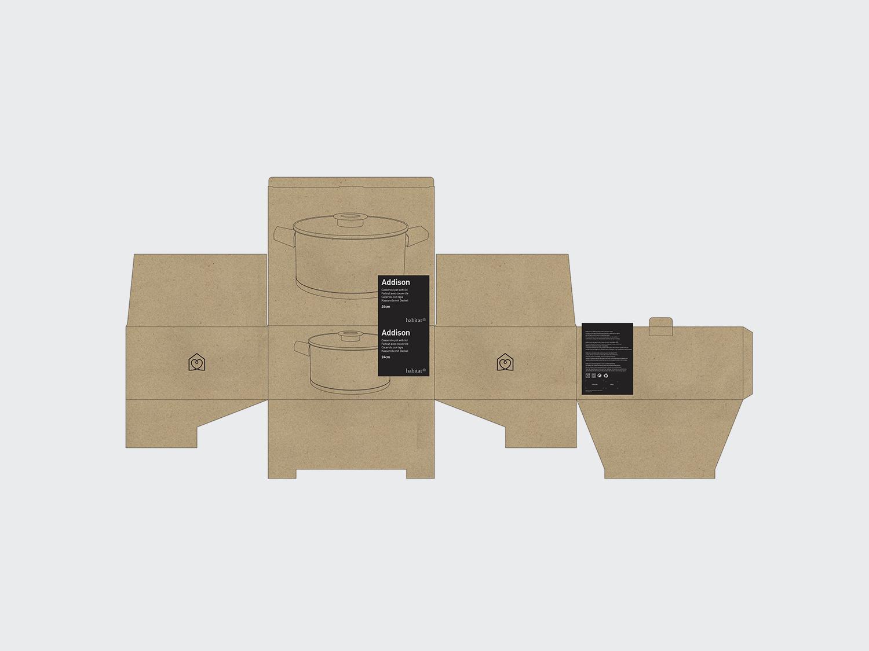 Habitat Packaging. Packaging for Habitat, Creative Director of 5 Years.