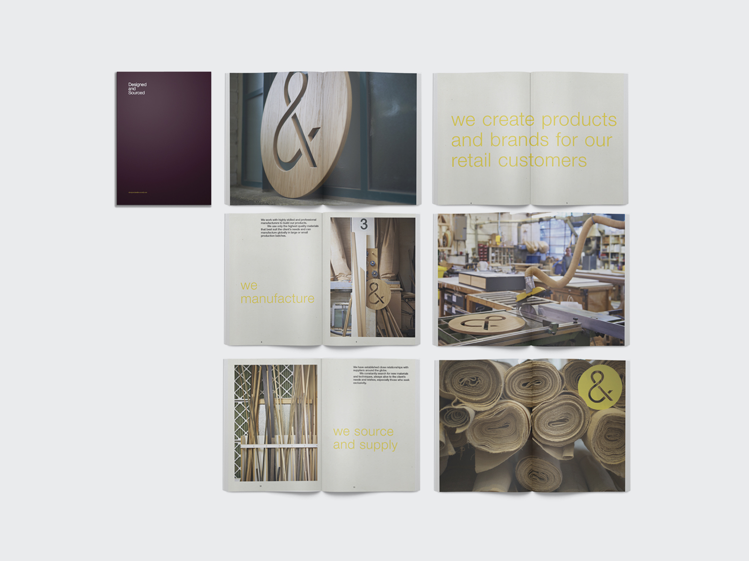Designed & Sourced Creative Direction. Catalogue and Brand Building for Designed & Sourced
