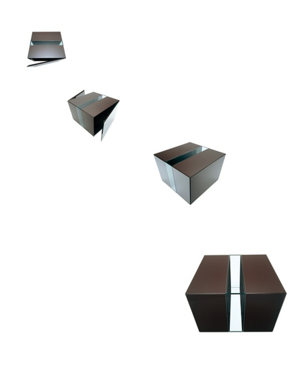 "Livi't Italy, 2003⁠ ⁠ ""VOID DRINKS BOX""⁠ 80cmx80cmx80cm⁠ ⁠ Lacquered wood finish with two separate sides, with doors that open, with shelves in glass.⁠ ⁠ The two sides are connected with a glass frame that runs top, bottom and both sides leaving visible the sides of the two wooden sides and the floor.⁠ ⁠ #theowilliams #design #simple #simpledesign @theo_williams_ #gooddesign #understandabledesign #honestdesign #Gooddesignisaslittledesignaspossible⁠"