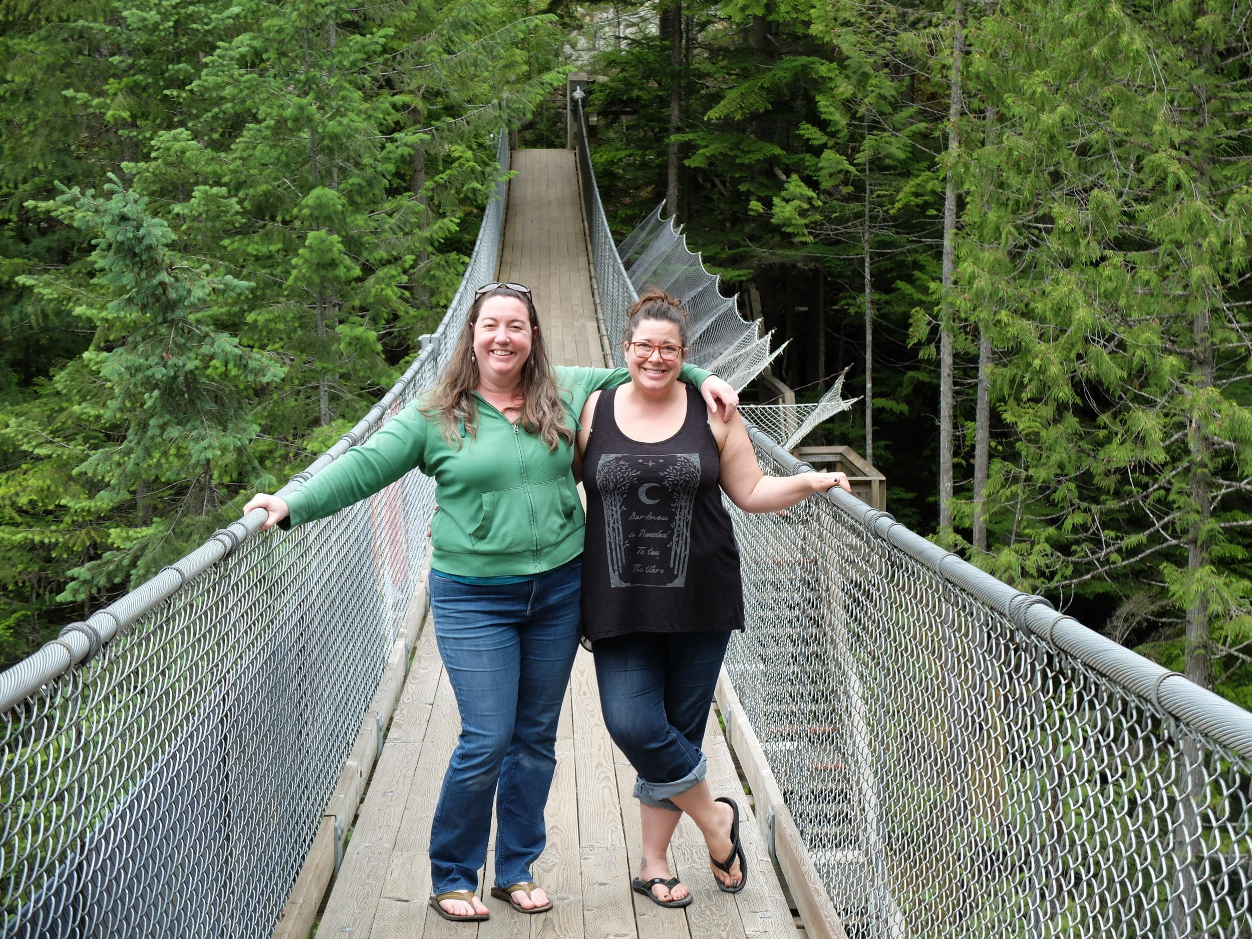 Me and KJ on the suspension bridge