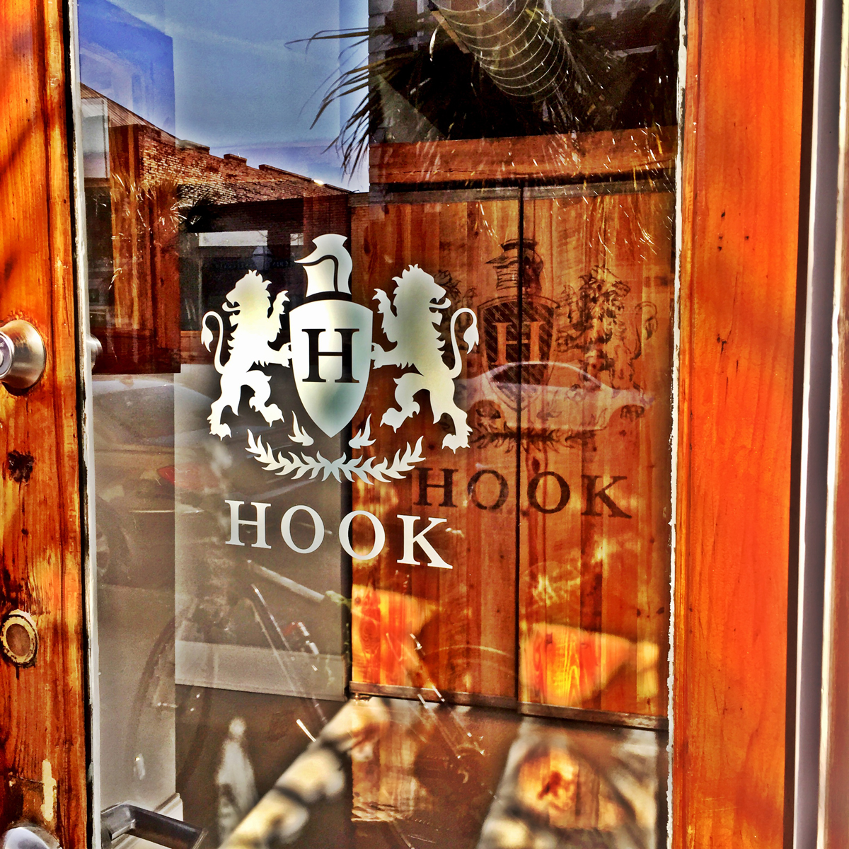 I will admit, I know nothing about Hook except that I dig their storefront.  I googled it and apparently they are an advertising company.  Their advertising worked!