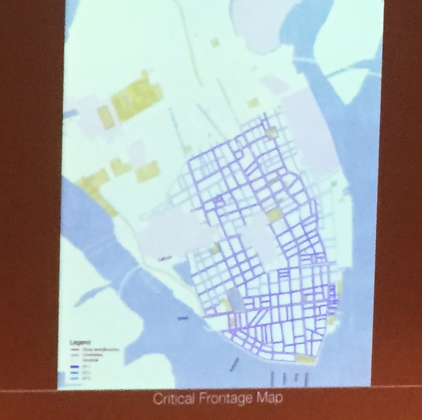 This map shows a heirarchy of streets.  The darker streets are the most important.