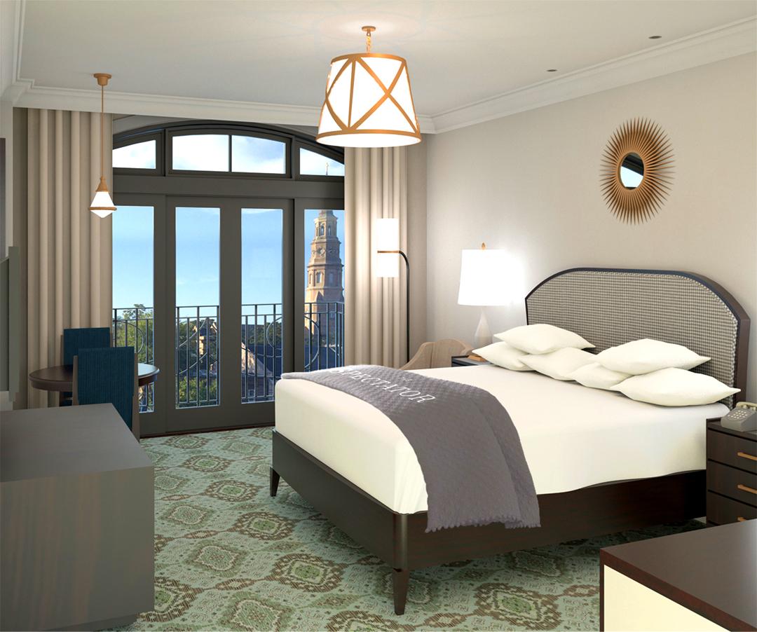 Hotel Room Rendering 1.