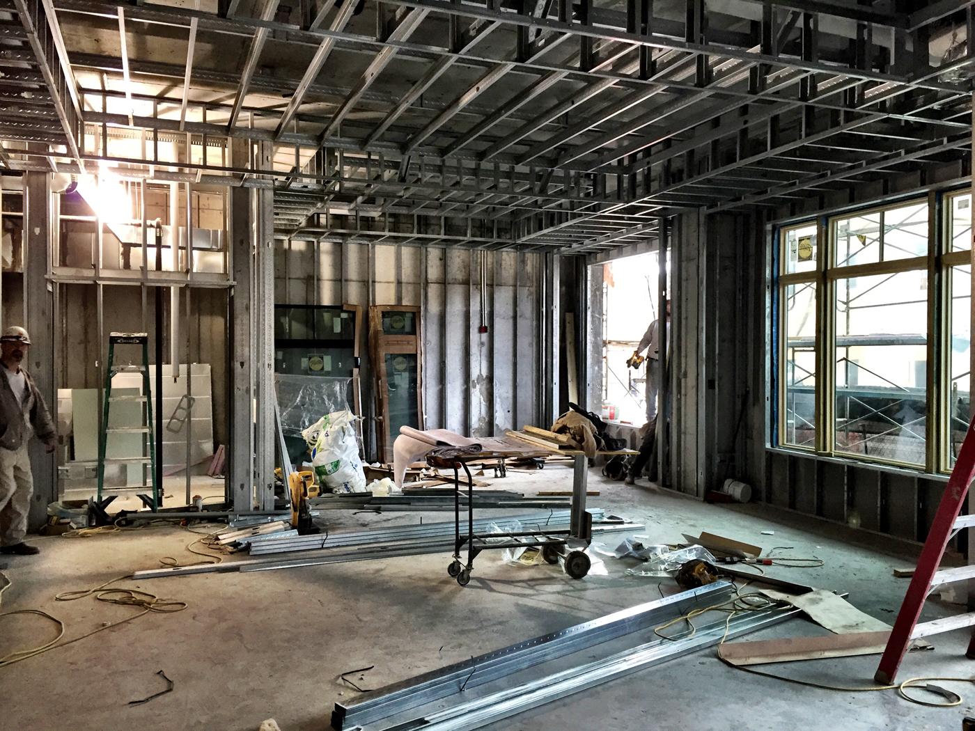 Lobby Construction Photo 2.